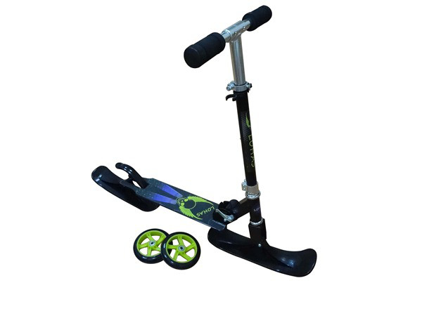 Самокат скутер з лижами і колесами. Самокат трансформер.