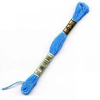 Мулине DMC (ДМС) арт.996,голубой, нитки для вышивания 8м. Франция, Оригинал