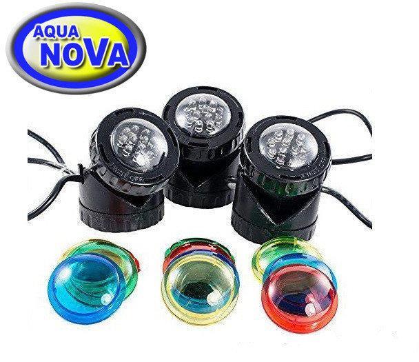 Светильник для пруда AquaNova NPL1-LED3  в (к-те датчик день/ночь)