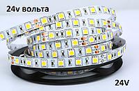 Светодиодная лента 24v smd 5050 60led/м 12v ip20 белый стандарт. 24 вольта