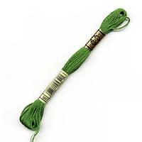 Мулине DMC (ДМС) арт.987,зеленый, нитки для вышивания 8м. Франция, Оригинал