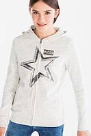 Кофта на молнии для девочки со звездой из пайеток C&A Германия Размер 134-140