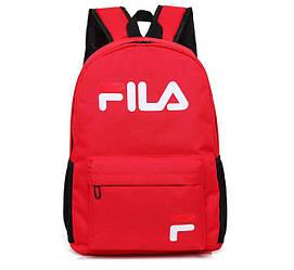 Спортивный рюкзак Fila красного цвета (люкс копия)