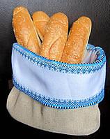 Мешочек для хлеба Atteks текстильная хлебница с узором вышивка - 1242
