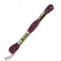 Мулине DMC (ДМС) арт.3740,сиреневый, нитки для вышивания 8м. Франция, Оригинал