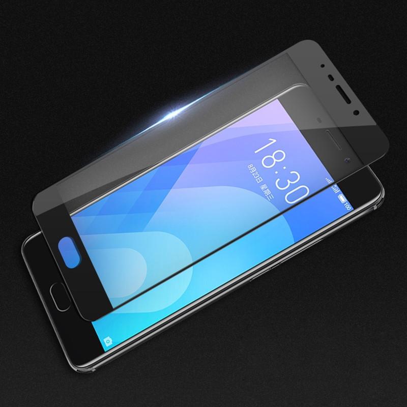 Защитное закаленное стекло GLASS с черной рамкой для Meizu M6 Note