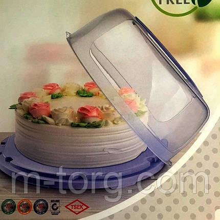 Тортівниця (пластик) 28 см, фото 2