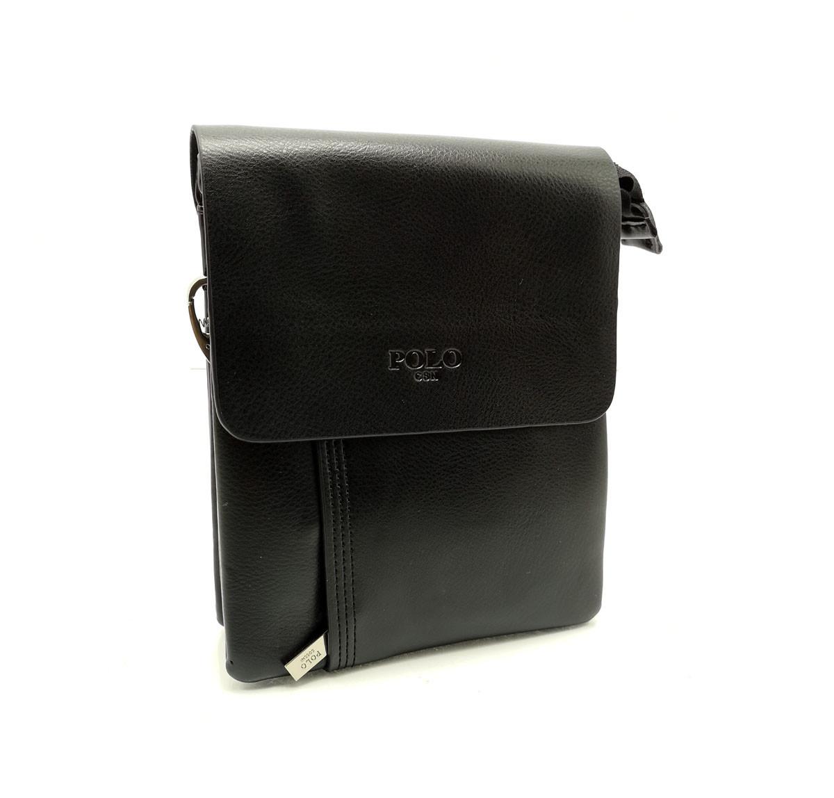 Мужская сумка Polo клапан кожа (b372-1)