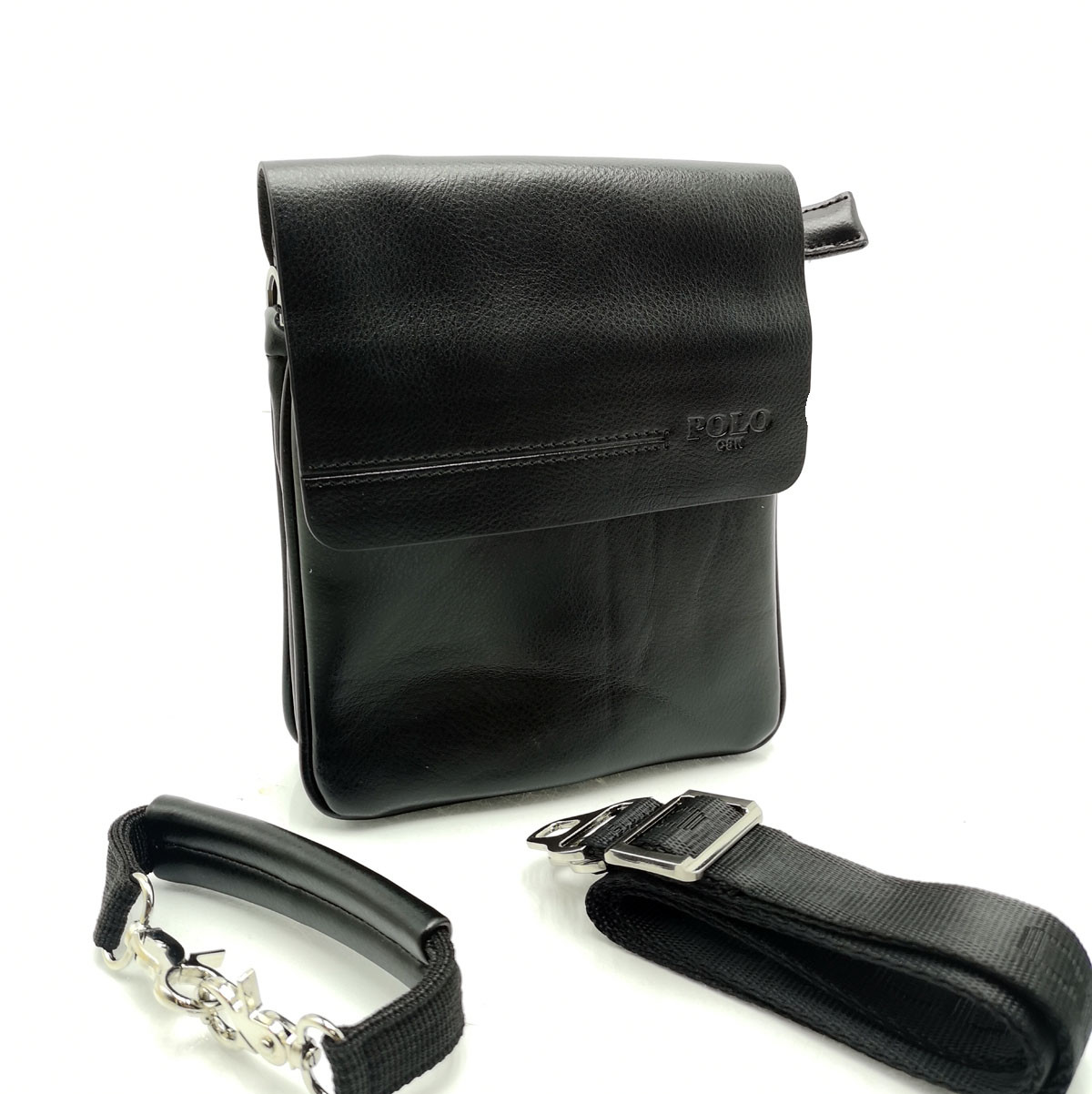 Мужская сумка Polo клапан кожа (B358-1)