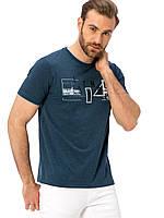 Синяя мужская футболка LC Waikiki / ЛС Вайкики с надписью на груди Istanbul, фото 1