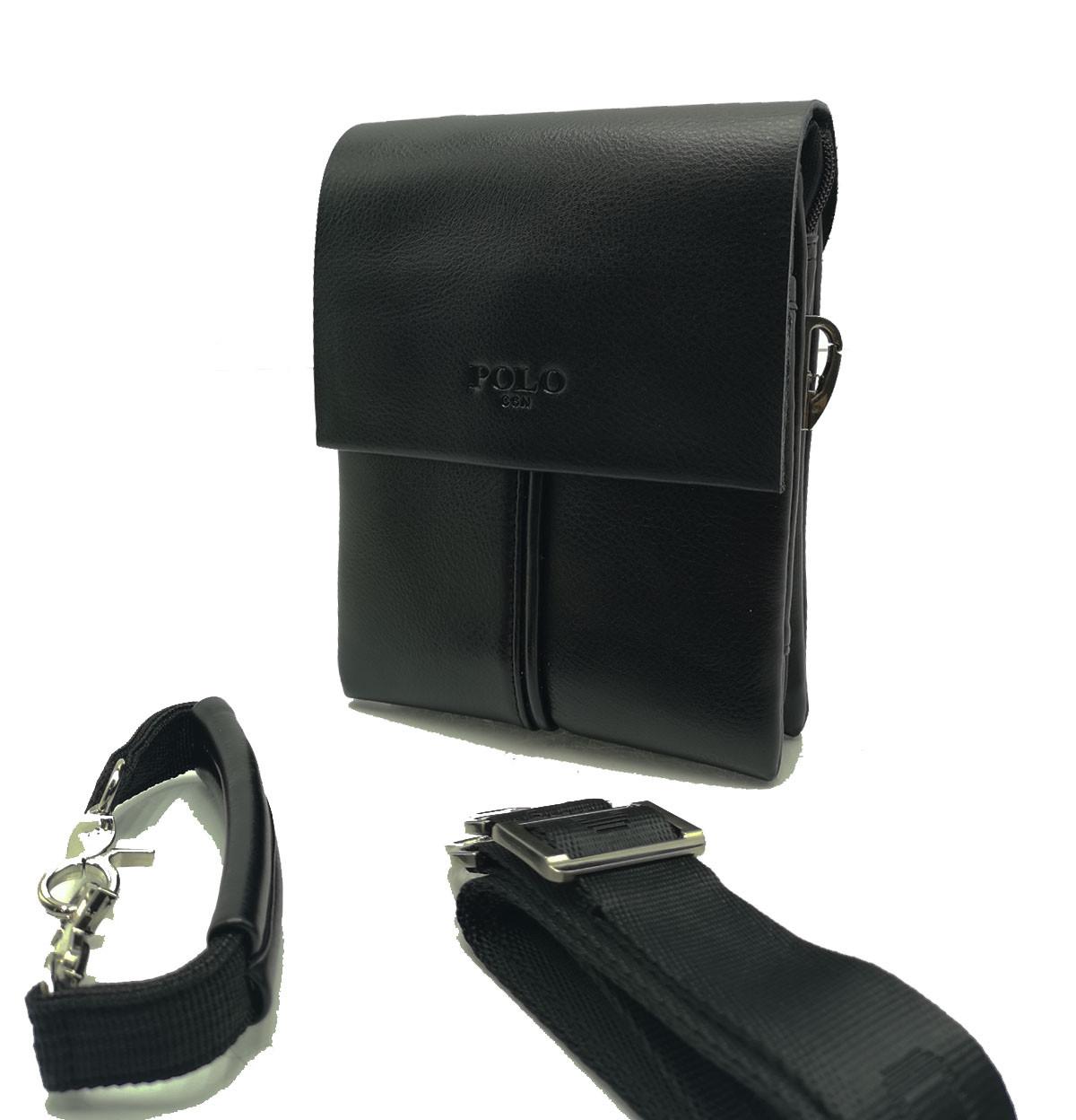 Мужская сумка Polo клапан кожа (B6771-1)