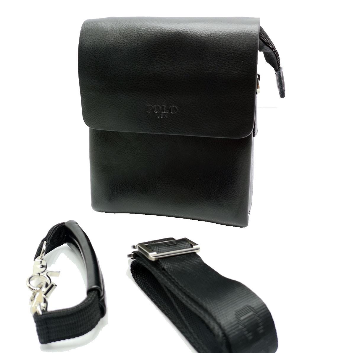 Мужская сумка Polo клапан кожа (B375-1)