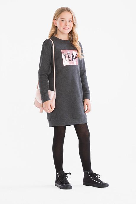 Платье толстовка для девочки с пайетками C&A Германия Размер 146-152