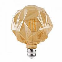 LED лампа Эдисона декоративная [ CRYSTAL  G-125 ]  (6w)