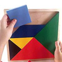 Танграм головоломка деревянная (22*22) Розумний Лис