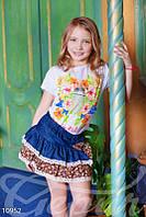 Джинсовая юбка миди для девочки Gepur 10952