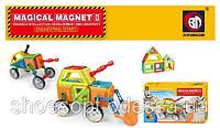 Магнитный конструктор Magical magnet Строительная техника 76 деталей