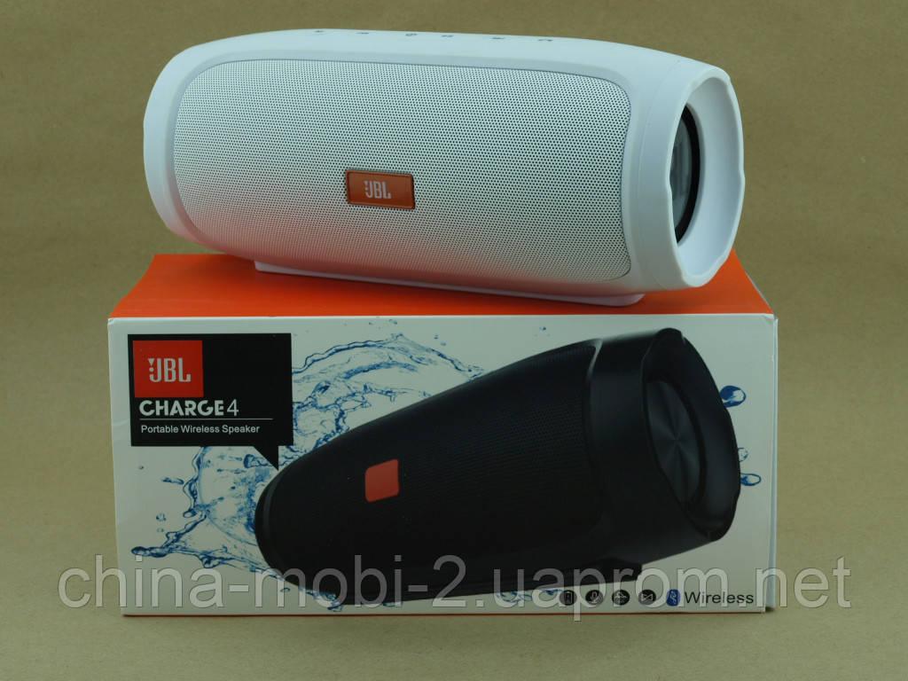 JBL Charge 4 E4 16W копія, портативна колонка з Bluetooth FM MP3, біла