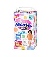 Трусики-подгузники Merries размер XL 12-22 кг 38 штук