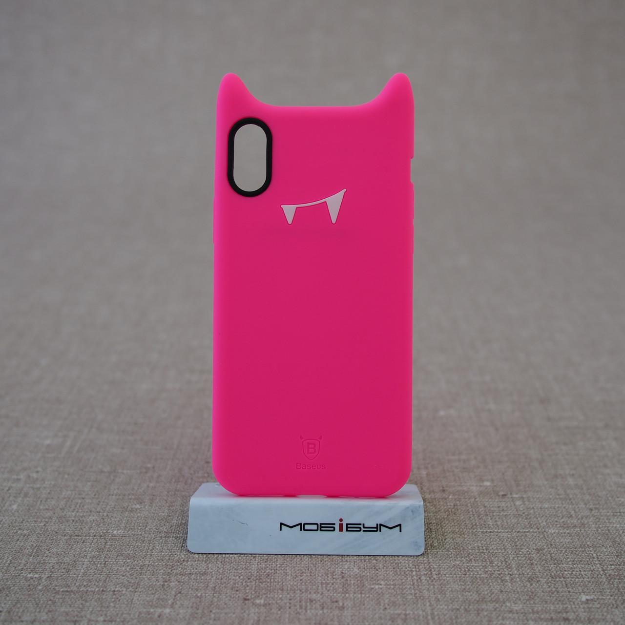"Чохол Baseus Devil iPhone Xs / X {5.8 ""} rose (ARAPIPHX-XM0R) EAN / UPC: 6953156264441"