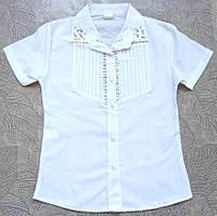 e9920729b08 Блузка для девочки белая с бусинами (6-7 лет рост 116-122