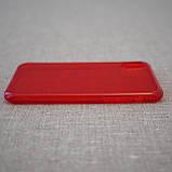 "Чохол Baseus Simple iPhone Xs / X {5.8 ""} transparent red (ARAPIPHX-C09) EAN / UPC: 6953156264212, фото 4"