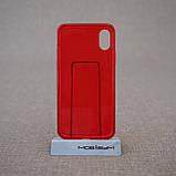 "Чохол Baseus Simple iPhone Xs / X {5.8 ""} transparent red (ARAPIPHX-C09) EAN / UPC: 6953156264212, фото 2"