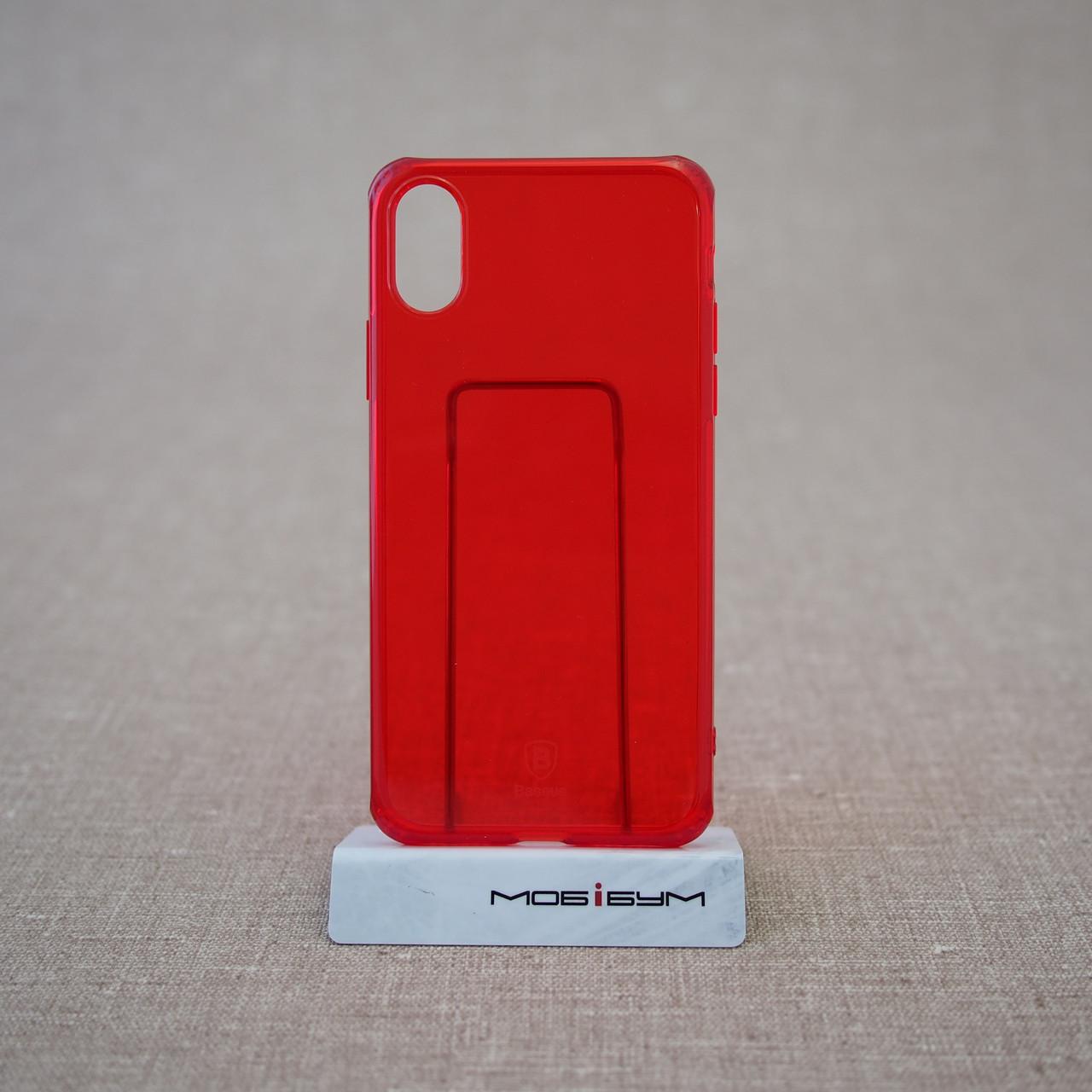 "Чохол Baseus Simple iPhone Xs / X {5.8 ""} transparent red (ARAPIPHX-C09) EAN / UPC: 6953156264212"