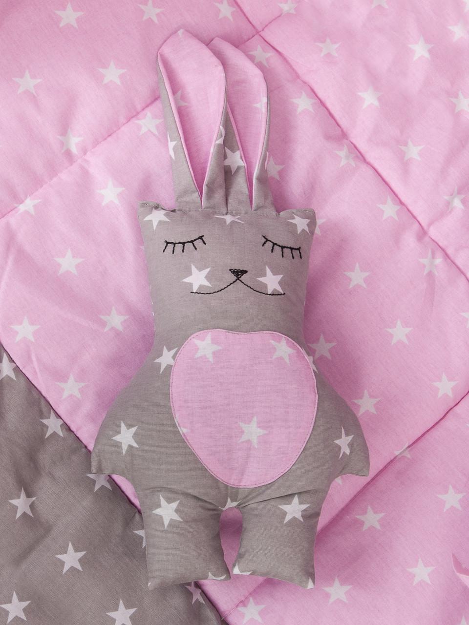 """Подушка - іграшка """"Рожевий зайчик"""""""