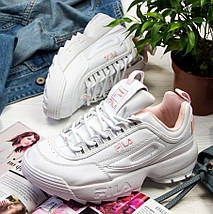 Женские кроссовки Fila Disruptor 2(II) White/Pink, фото 3