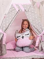 "Подушка - игрушка ""Розовая совушка"""