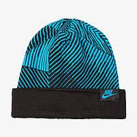 Шапка Nike Hat Seasonal Cuff Beanie Yth 728497-407 Синий (091206926843)