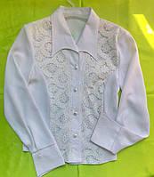 Блуза белая с гипюром