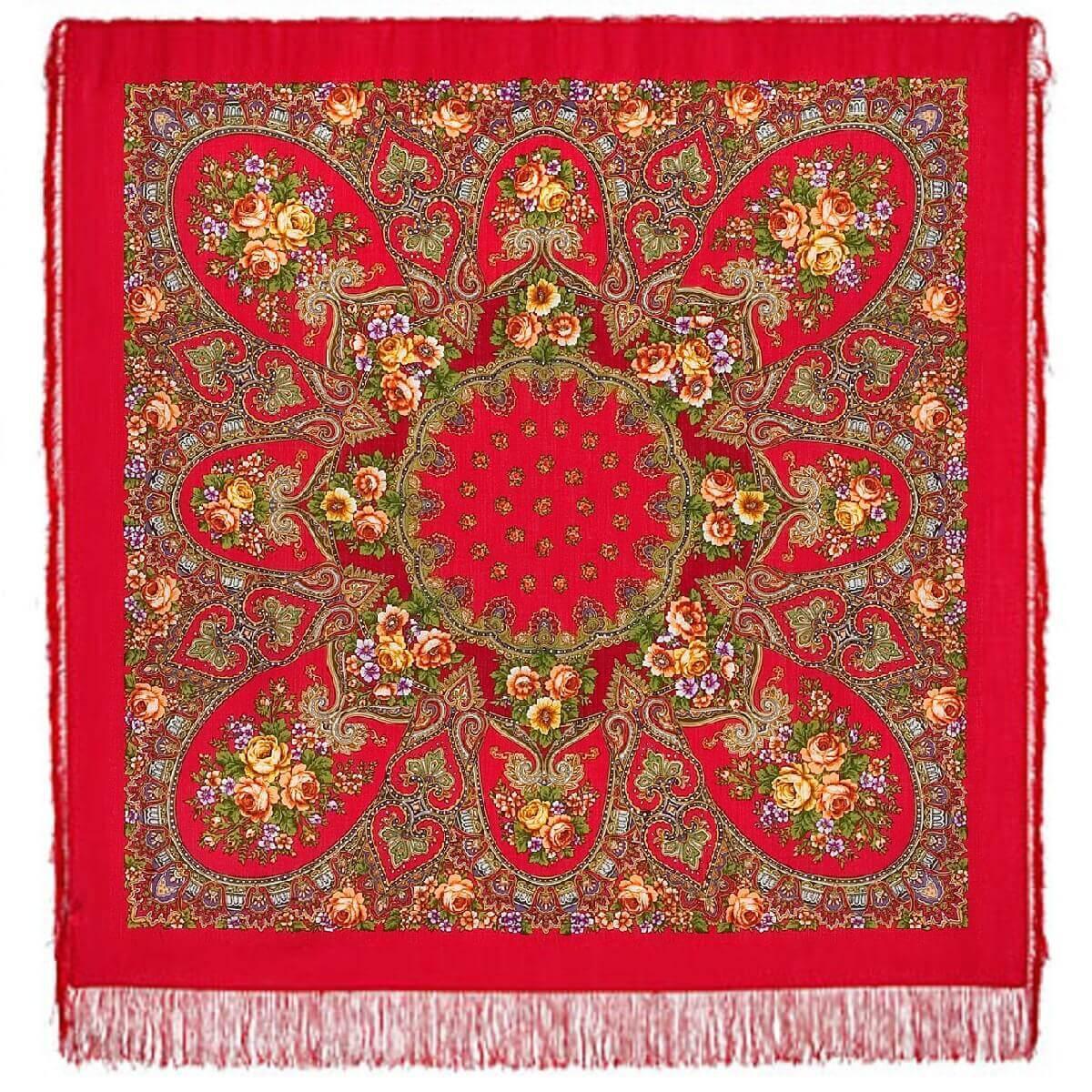 Шерстяной платок женский Венский вальс