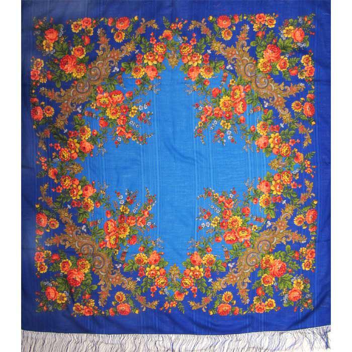 Шерстяной платок с бахромой женский Изысканный