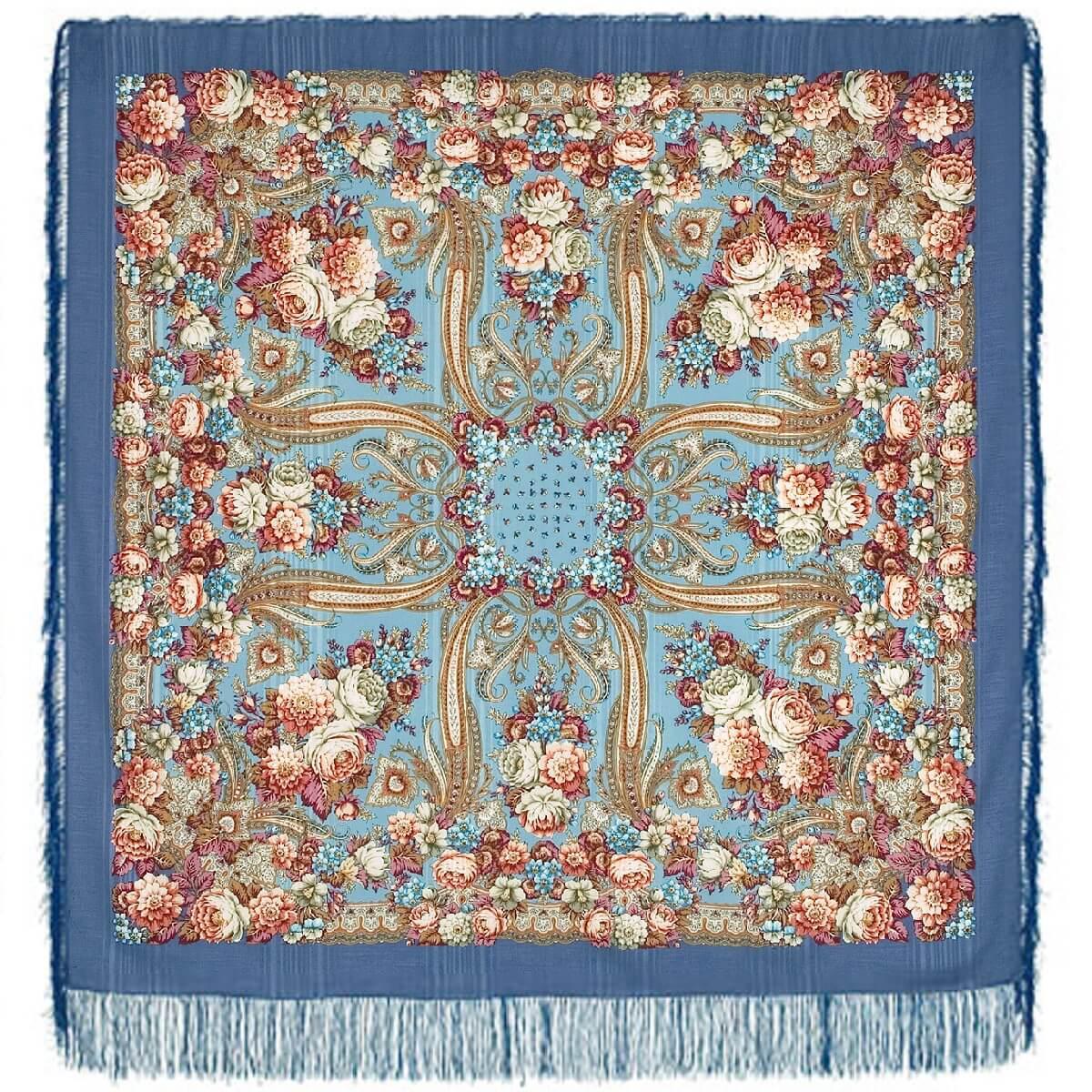 Шерстяной платок с шелковой бахромой Именинница