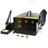 Паяльна станція термоповітряна Lukey 852D, компресорная паяльник+фен
