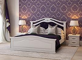 Ліжко160*200 двоспальне біле вільха в спальню  Маргарита  серія Еліт Мікс Меблі