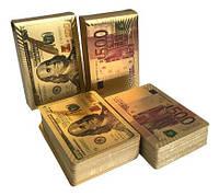 Пластиковые игральные карты (Доллары и Евро)