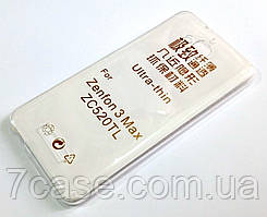 Чехол для Asus Zenfone 3 Max ZC520TL силиконовый ультратонкий прозрачный