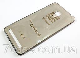 Чехол силиконовый ультратонкий для Asus Zenfone 6 a600cg / a601cg затемненный