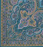 Шаль павловопосадская из шерсти Таинственный вечер, фото 2
