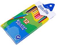 """Цветные карандаши Colorite 12 цветные двухсторонние №1110-12CB """"MARCO"""" NEW (уп12\240)"""