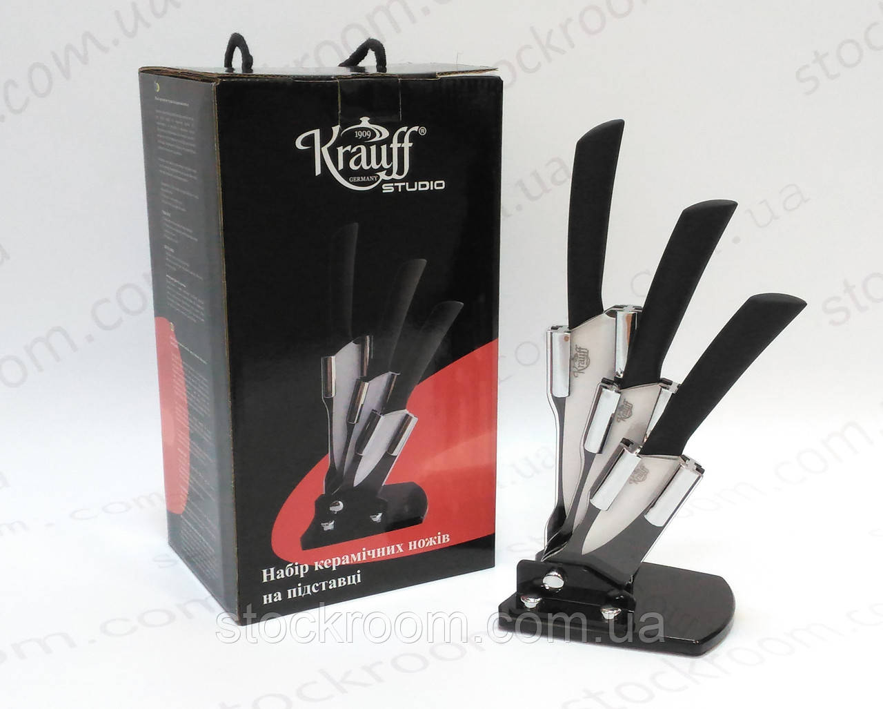 Набор керамических ножей Krauff 29-166-006 на подставке