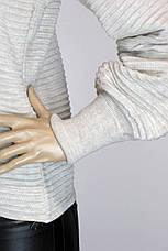 Жіноча кофта реглан з подовженим рукавом, фото 3