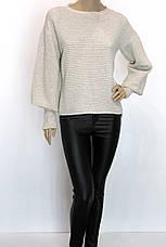 Жіноча кофта реглан з подовженим рукавом, фото 2