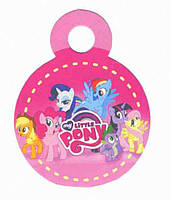 "Медали ""Little Pony""розовые. В упак: 10 шт. Диаметр: 75 мм. Материал: Картон."