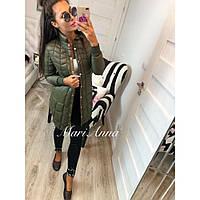Куртка женская стильная удлиненная Прага 3773