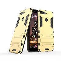 "Чехол Iron для Honor 7C / AUM-L41 (5.7"") бронированный Бампер Броня Gold"