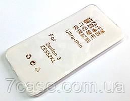 Чехол для Asus Zenfone 3 ZE552KL силиконовый ультратонкий прозрачный